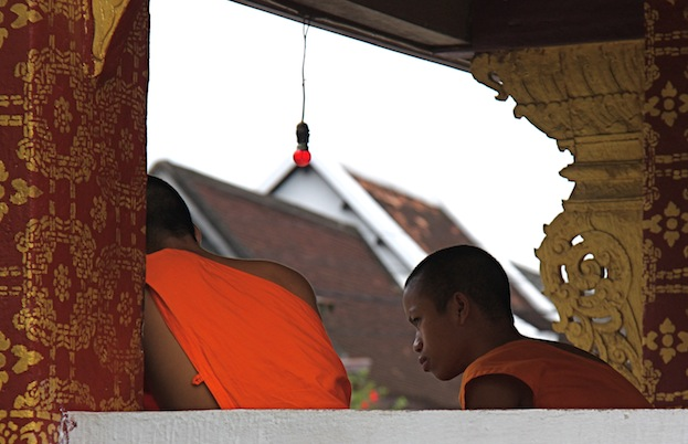 monaci a Luang Prabang