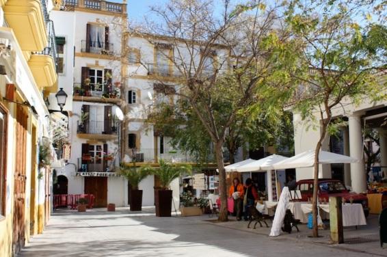 il centro di Eivissa città