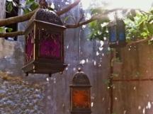 l'illuminazione del giardino