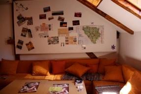 il salotto dell'Hostel Ferhadija