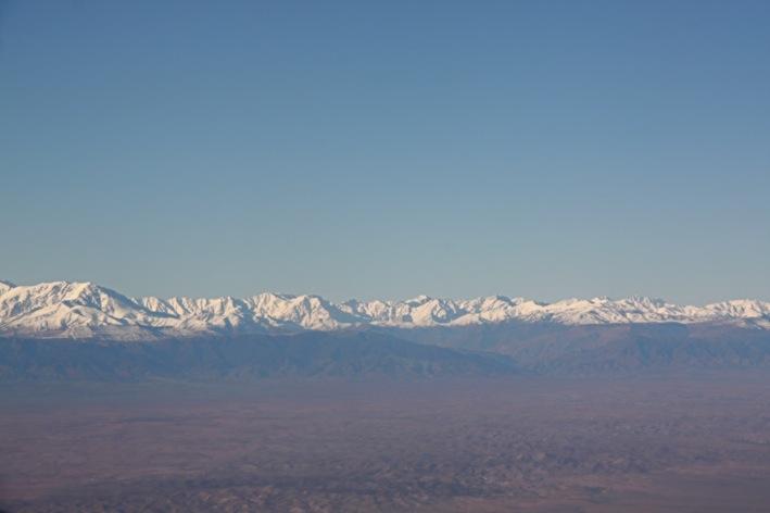 la vista dall'aereo, all'arrivo a Marrakech