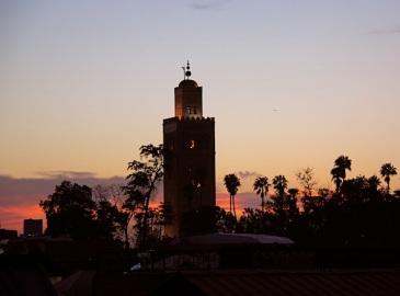 la Koutoubia al tramonto