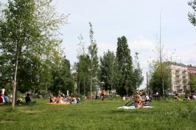 una giornata di sole a Mauerpark