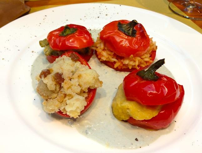 i peperoni capriglio con ripieni vegetariani