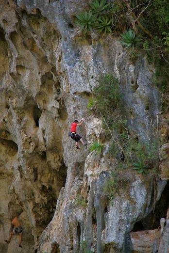 la zona è piena di siti per l'arrampicata