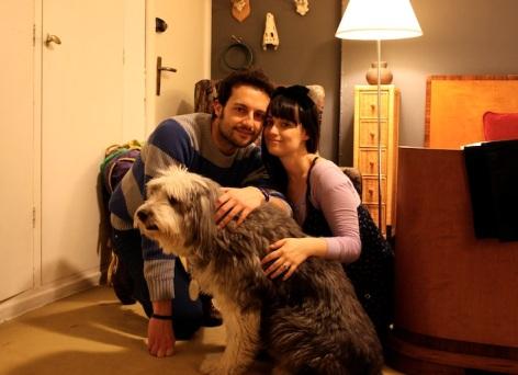 foto di famiglia con Kenzo
