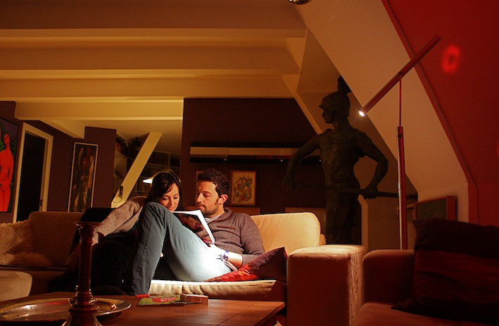 uno dei tanti divani del salotto