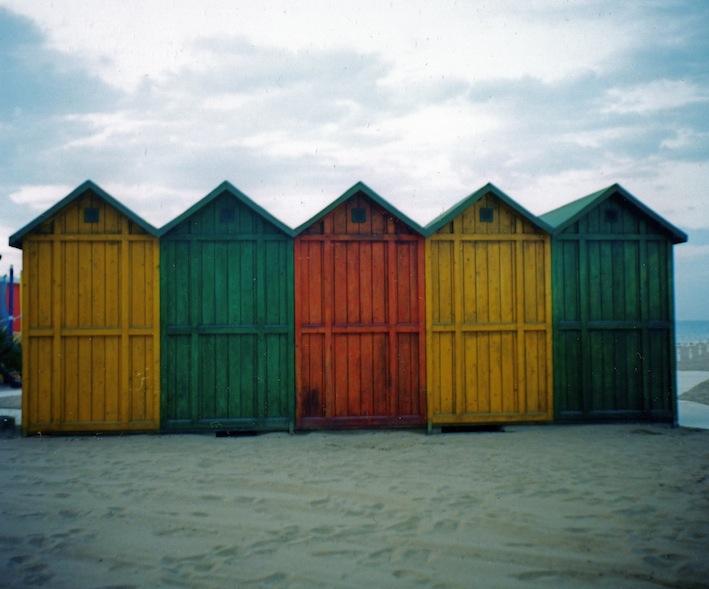 le cabine di Riccione in inverno