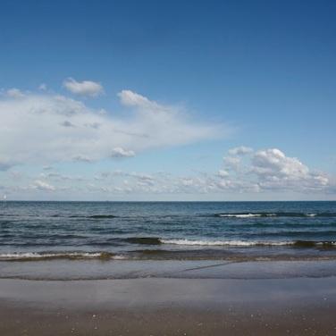 il mare di Rimini in inverno