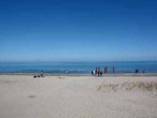 la spiaggia di Riccione in autunno