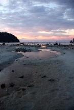 scenario lunare con la bassa marea