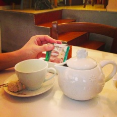 il tè del pomeriggio con biscotti
