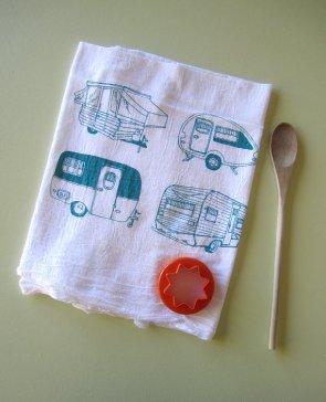 kitchen towel, su Etsy da ohlittlerabbit / 8 euro