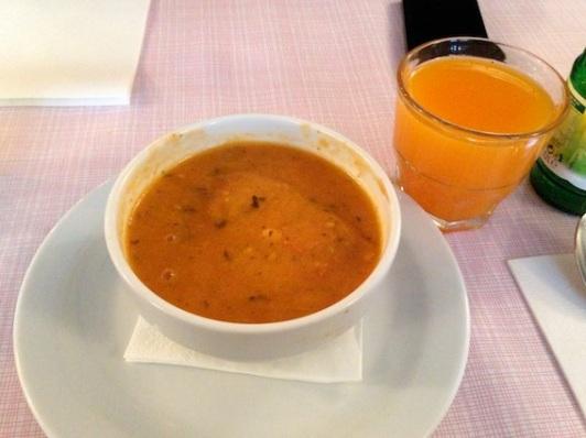 soupe d'hiver al pomodoro e basilico