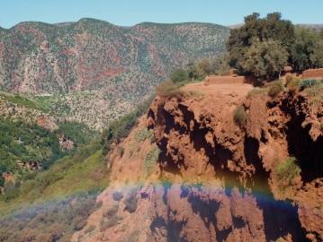 l'arcobaleno dall'alto della cascata
