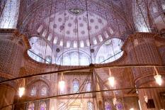 i soffitti della moschea blu