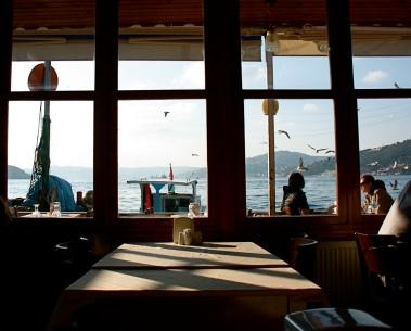 un ristorante di pesce ad Anadolu Kavağı