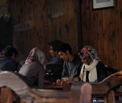 una sala da té a Kadıköy