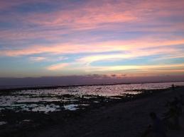 la consueta bassa marea nella zona sud