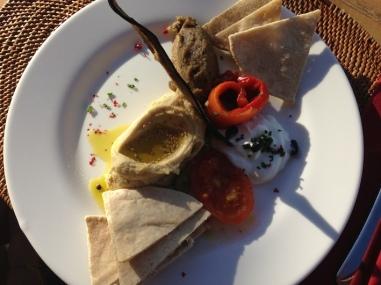 piatto unico di antipasti mediorientali