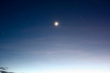 il cielo stellato all'alba