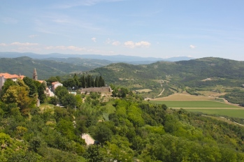 la vista dal borgo di Motovun